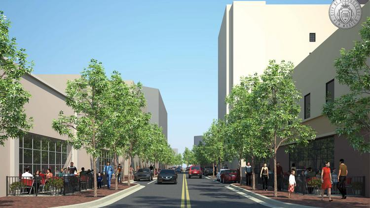 Long considered a Downtown blight, the 4th Street Mall's reconstruction has been designed and is out to bid for a contractor and is part of a larger plan for Downtown. This an artist rendering of the proposed 4th Street Mall.
