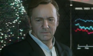 A screen capture of Kevin Spacey's character from the official trailer of Activision Blizzard's new Call of Duty game.