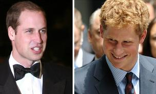 Prince William, left, and younger brother Prince Harry are in Memphis this weekend for an old friend's wedding, and businesses are welcoming them.
