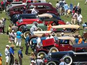 Production pre-war 1916 - 1942 cars ranged from Chevrolets to Singers at the Pinehurst Concours d'Elegance on the fairway of the Pinehurst Resort.