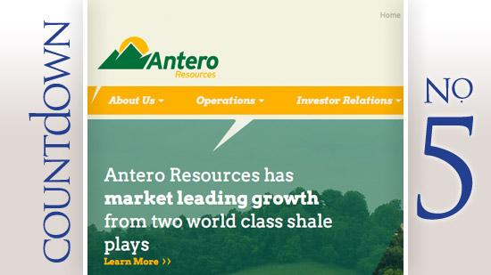 Antero Resources Corp.  CEO: Paul Rady 2013 base salary: $650,000 With bonuses and other compensation: $1.85 million
