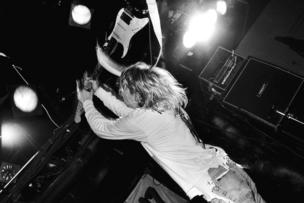 This is an undated handout photograph of Kurt Cobain in concert at The Axis Club, Boston, Massachusetts, Sept.  24, 1991.