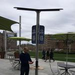 Life is Good installs solar-powered phone charging stations around Rose Kennedy Greenway