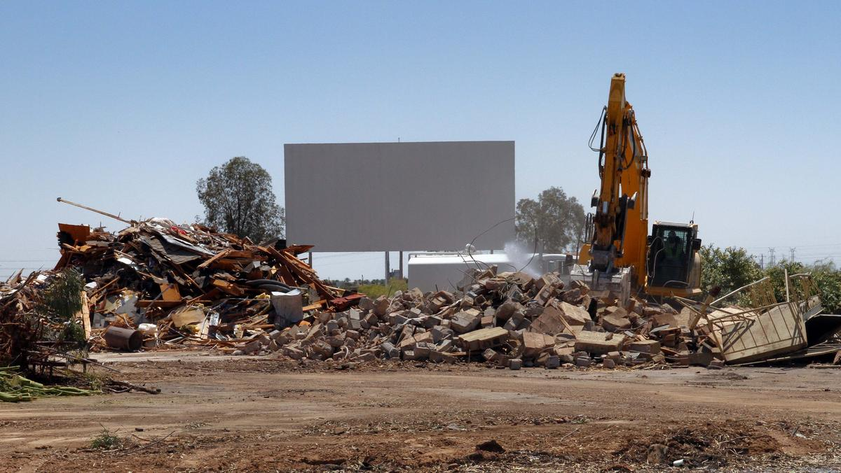 scottsdale six drivein movie theater demolished after