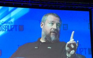Vice Media cofounder and CEO Shane Smith speaks during the TechCrunch Disrupt NY conference Monday, saying his company will dwarf CNN.