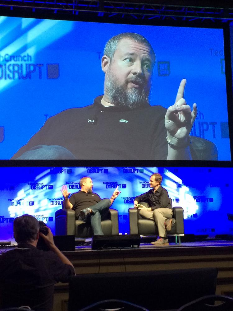 Vice Media cofounder and CEO Shane Smith speaks during the TechCrunch Disrupt NY conference Monday.