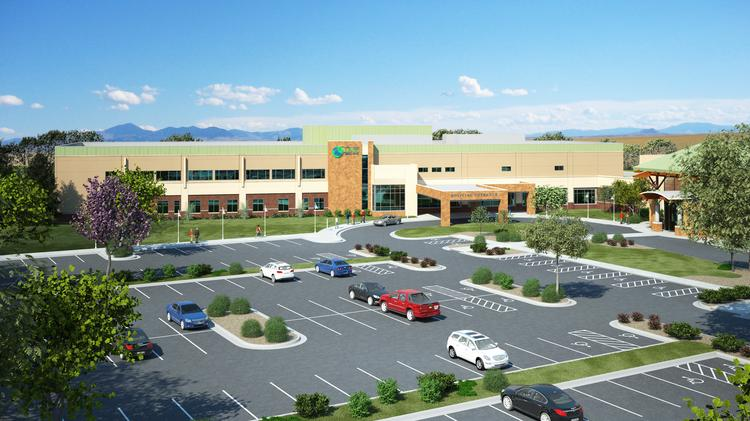 A rendering of a new hospital in Great Falls, Mont. Several Birmingham companies are involved in the project.