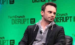 Brendan Iribe, CEO of Oculus VR speaks at TechCrunch Disrupt New York, May 5, 2014.