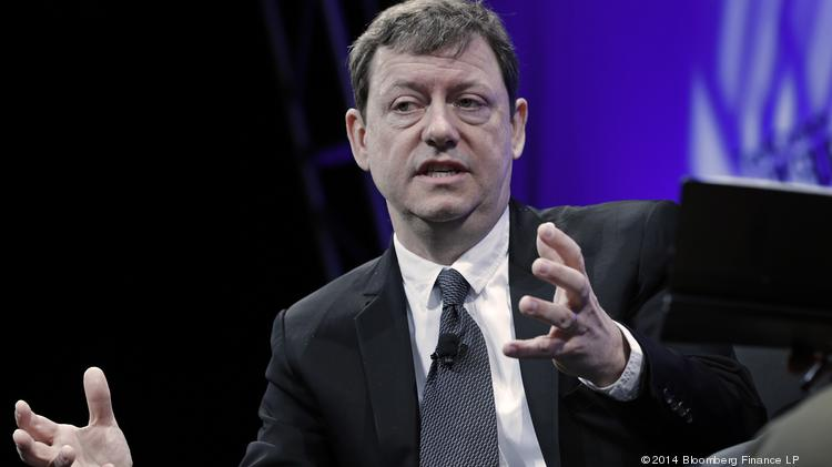 Fred Wilson, managing partner of Union Square Ventures, speaks during the TechCrunch Disrupt NYC 2014 conference. Earlier today Wilson recounted how his investments helped lead to the merger of two companies that were yesterday acquired by Yahoo.