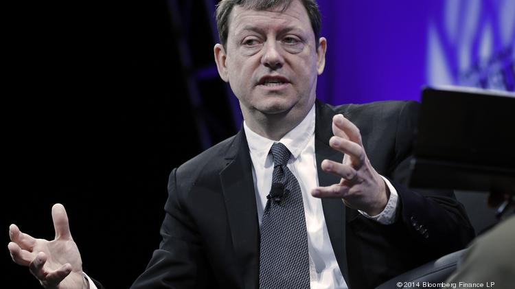 Fred Wilson, managing partner of Union Square Ventures, speaks during the TechCrunch Disrupt NYC 2014 conference.