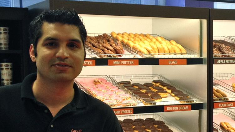 Taha Rana, general manager and partner of Cafe Donuts in downtown Minneapolis
