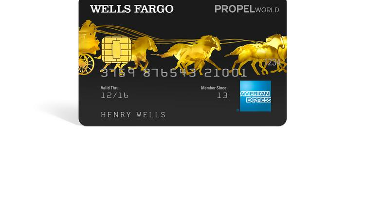 Wells Fargo Hey big spender care for a credit card