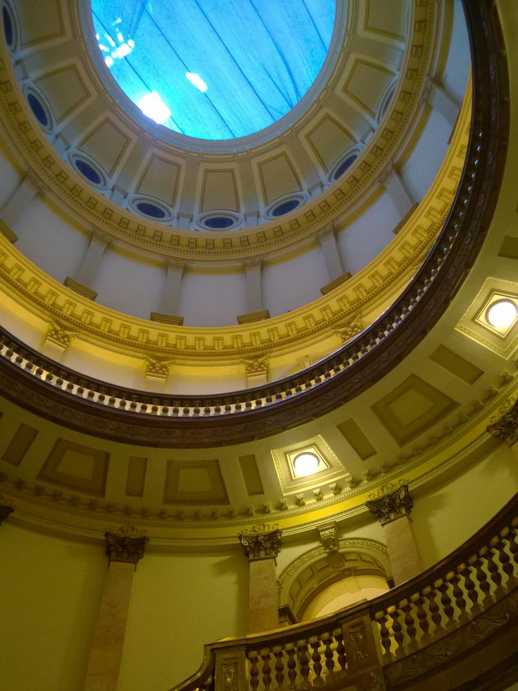 Inside the dome at the Colorado state Capitol in Denver.