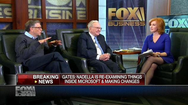 Bill Gates, left, appeared on Fox Business Network on Monday and indicated he would support Satya Nadella if he decided to spin off the company's Xbox business.
