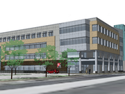 Kraus-Anderson's proposed new 80,000 square foot headquarters will be four times the size of its current 1970's-era building on the same block.