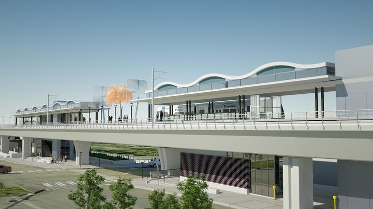 The Angle Lake light rail station in the city of SeaTac will open in 2016.