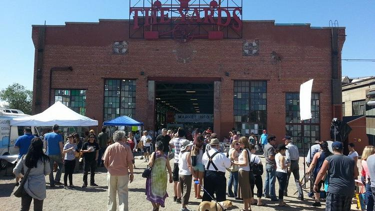 ​The first Rail Yards market drew thousands of attendees to the city development just south of Downtown this weekend.