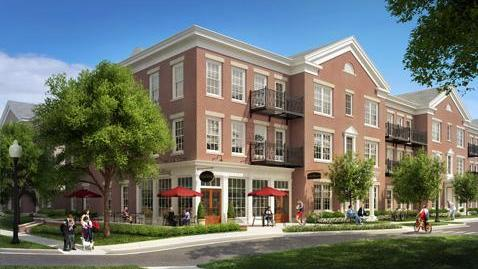 Rendering of The Carrington, a multi-family development at Schilling Farms