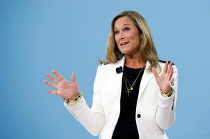 Angela Ahrendts, Apple's new retail chief, stands to collect as much as $68 million worth of stock options over the next four years. But the company will need to perform.