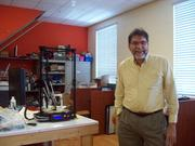 Steve Graves, a member of Tampa HackerSpace, with a 3-D printer he built from a kit. HackerSpace offers an Open Make Night from 6-10 p.m. Tuesdays and a Kid's Open Make Day from 1-4 p.m. Sundays, among other events.