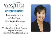 Businesswoman of the Year, for-profit finalist Mona Choy-Beddow, HomeStreet Bank