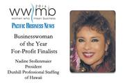Businesswoman of the Year, for-profit finalist Nadine Stollenmaier, Dunhill Professional Staffing of Hawaii