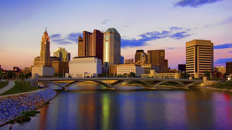 Image result for downtown columbus skyline