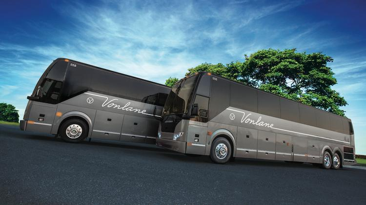 Each of the Vonlane motor coaches on the route between Austin and Dallas cost $700,000. Click on the photo to see what the coach's interior has to offer.
