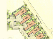 A site plan for Oppidan's Wooddale Flats Condos in St. Louis Park