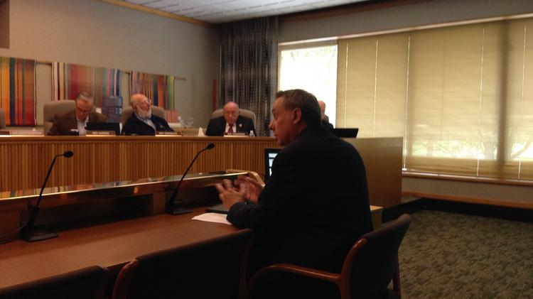 State Chief Information Officer Alex Pettit testifies before Oregon lawmakers on Tuesday, May 6, 2014.