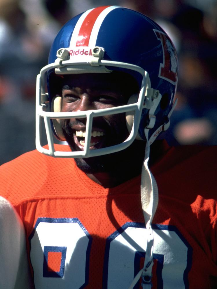 Former Broncos wide receiver Rick Upchurch during an October 1981 game.