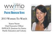 2013 Women-to-Watch: Kanoe Naone, INPEACE