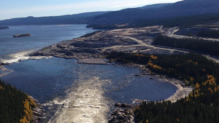 Nalcor Energy has begun construction on the Muskrat Falls hydroelectric plant in Labrador. This photo shows construction work last fall. The project is scheduled to be done by the end of 2017.
