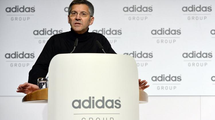 Adidas CEO Herbert Hainer says his company is putting the Rockport business up for sale.