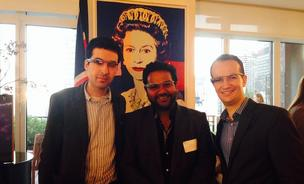 Omar Tayeb, CTO & co-founder, Blippar, Ambarish Mitra, CEO & co-founder, Blippar, Danny Lopez, consul general of the UK.