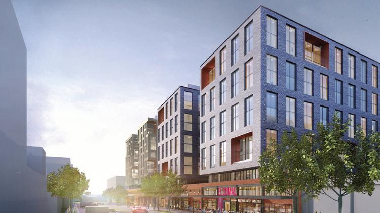 Rendering of Edens Realty Inc.'s proposed mixed-use building at 1270 Fourth St. NE, part of its Union Market development.