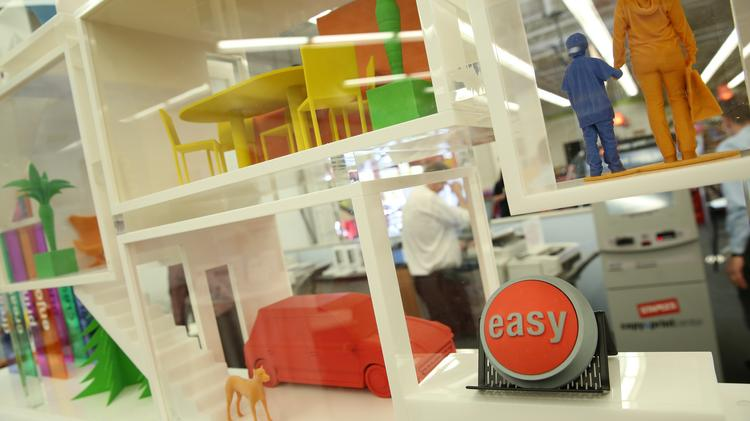 Consumers and small-business owners who have seen 3-D printing only on TV can now come into Staples' Studio City store, try out and learn about the technology, and buy it as a service or machine.