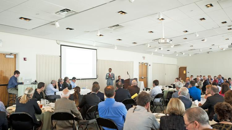 The fifth annual Venture Sharks finals were held at the Muhammad Ali Center Wednesday.