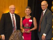 Ronnie Leonard, Balco Inc., is recognized as the 2014 Small Business of the Year Tier Two winner.