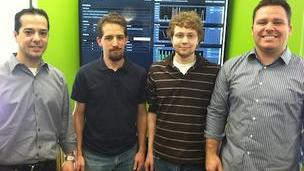 Boston-based Stackdriver has been acquired by Google Inc. for an undisclosed amount. From left, Stackdriver co-founder Izzy Azeri, engineers Jeremy Katz and Joey Imbasciano, and co-founder Dan Belcher.