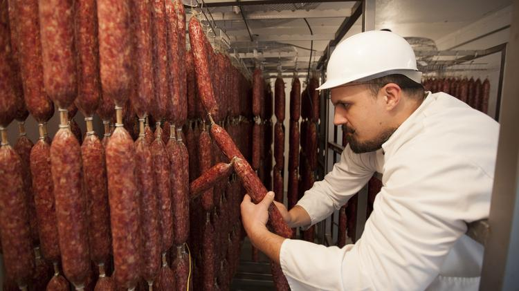 Scott Buer owns Bolzano Artisan Meats with his wife, Christin Johnstone-Buer.