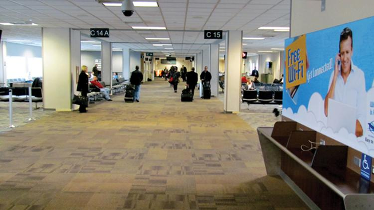 The Dayton International Airport served about 103,000 passengers in July, compared with about 110,000 during the same month in 2013.