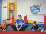 Megan Gorsuch leads a class at the My Gym Children's Fitness Center in Timonium.