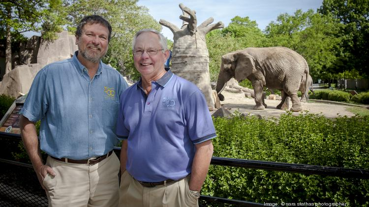 Chuck Wikenhauser, right, with Bruce Beehler.