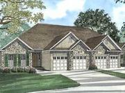 """The first phase of the Cora Bella master plan is called the """"Mary Oaks Manor"""" development and features 20 twin homes and eight townhomes. This is an artist's rendering of the twin homes planned."""