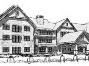 A rendering depicts The Grove at Frontenac, a proposed $23.5 million, 69,090-square-foot assisted living facility.