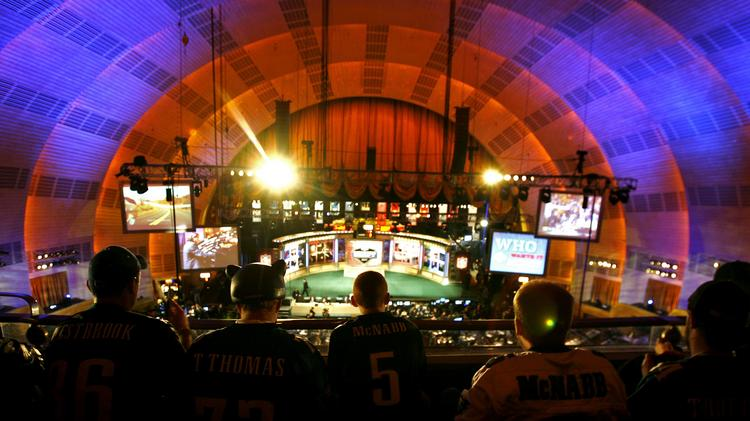 Fans at the 2007 NFL Draft at Radio City Music Hall in New York.