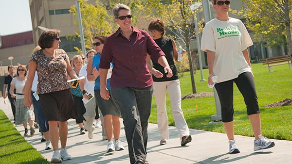 The Monday Mile group invites NKU faculty, staff and students to meet weekly for a walk around campus.