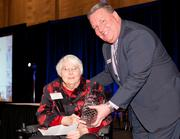 Lifetime Achievement winner Dr. Beatrice Lampkin with Courier Publisher Jamie Smith.