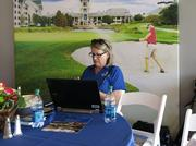 St. Augustine, Ponte Vedra & The Beaches Visitors & Convention Bureau Communications Manager Barbara Golden was one of key staff at their Hospitality House suite near the 17th Tee at THE PLAYERS Championship.